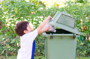 Youth Squad Boy Thowing Out Garbage