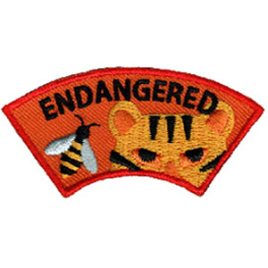 Endangered Animal Advocate Service Patch
