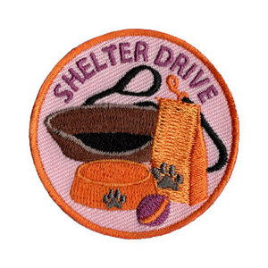 Shelter Drive Service Patch Program® from Youth Squad®