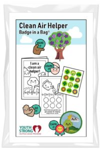 Clean Air Helper Badge in a Bag