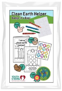 Clean Earth Helper Badge in a Bag