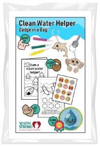 Clean Water Helper Badge in a Bag