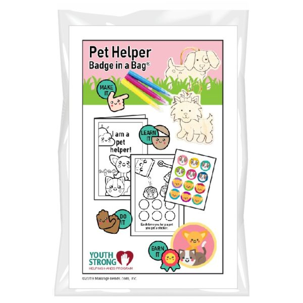 Pet Helper Badge in a Bag