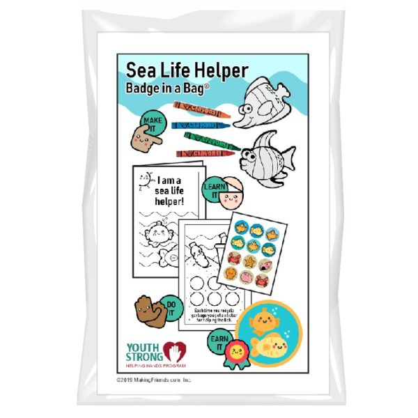 Sea Life Helper Badge in a Bag