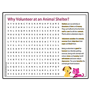 Animal Shelter Word Search