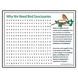 Bird Sanctuary Volunteer Word Search
