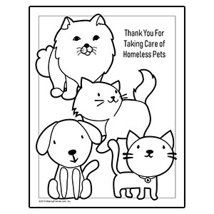 Cats and Dogs Coloring Page