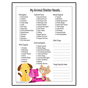 Animal Shelter Drive Checklist
