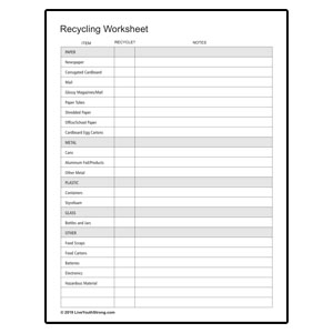 Recycling Checklist