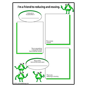 Friend to Reducing and Reusing  Review Worksheet