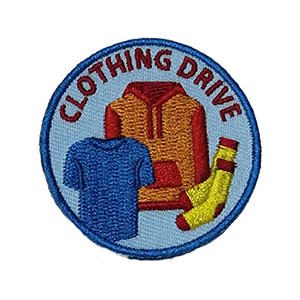 Clothing Drive Service Patch Program® from Youth Squad®