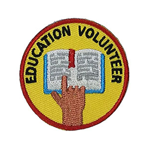 Education Volunteer Service Patch Program® from Youth Squad