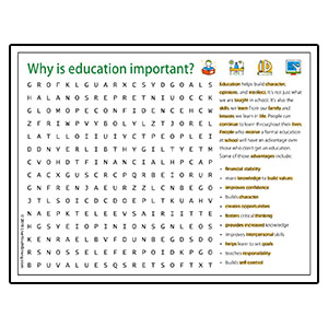Education Volunteer Word Search