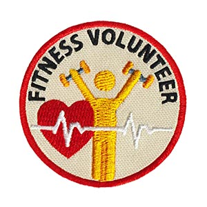 Fitness Volunteer Service Patch Program® from Youth Squad