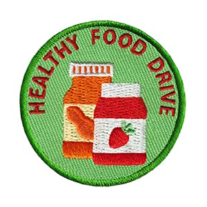 Healthy Food Drive Service Patch Program® from Youth Squad