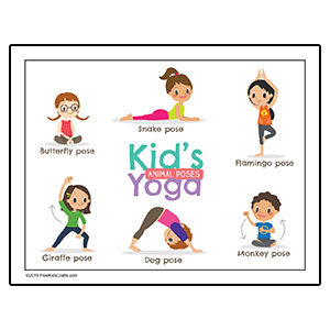Kids Yoga Worksheet