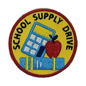 School Supply Drive Service Patch Program® from Youth Squad®