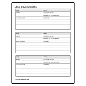 Soup Kitchen Worksheet