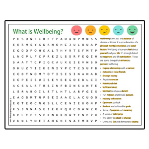 Wellbeing Word Search