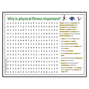 Youth Squad® Wellness Word Search Physical Fitness
