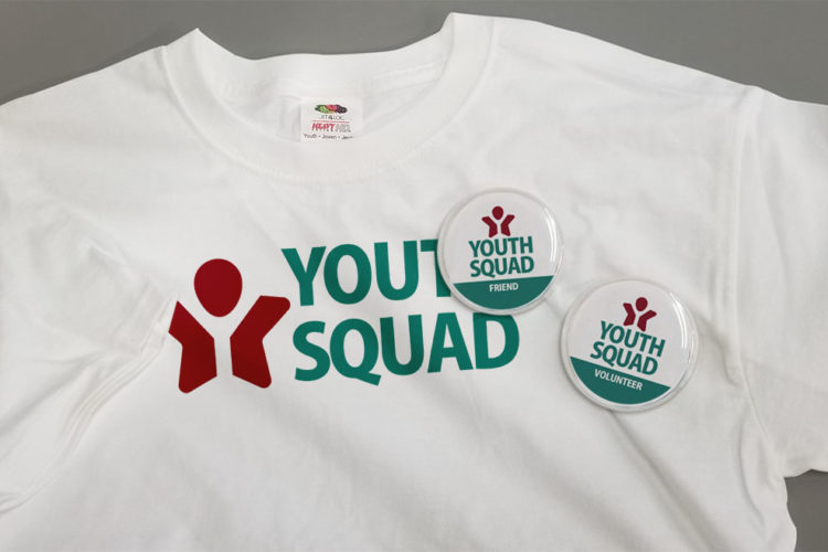 Youth Squad® T Shirt with Buttons