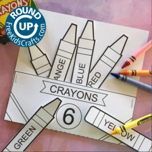 crayon box activity for the School Helper Patch