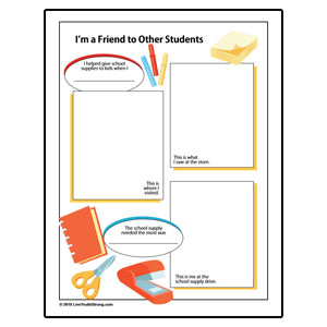 School Supply Drive Review Worksheet