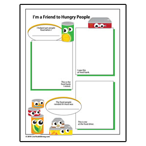 Healthy Food Drive Review Worksheet