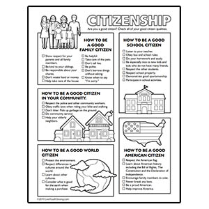 Good Citizen Worksheet