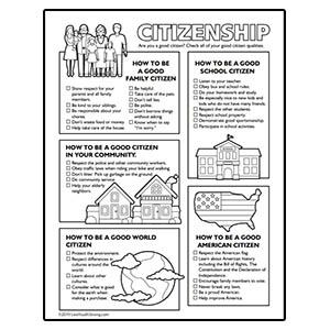 Good Citizen Worksheet