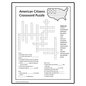 American Citizen Volunteer Crossword Puzzle