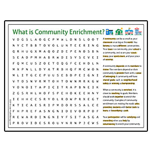 Youth Squad Community Enrichment Word Search