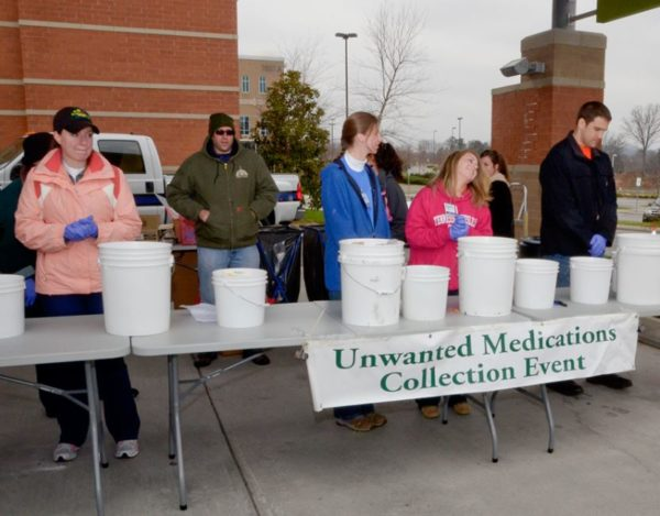Collecting unused medication.
