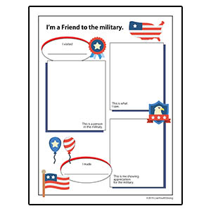Youth Squad® Military Appreciation Worksheet